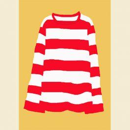 赤いしまのTシャツWeb用沖野